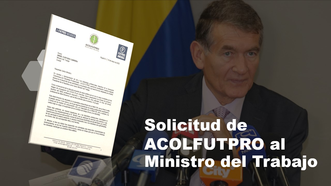ACOLFUTPRO le pide al Ministro del Trabajo que no autorice supensión de contratos