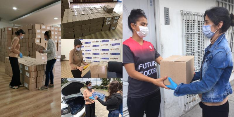 101 futbolistas mujeres reciben ayudas en medio de la pandemia