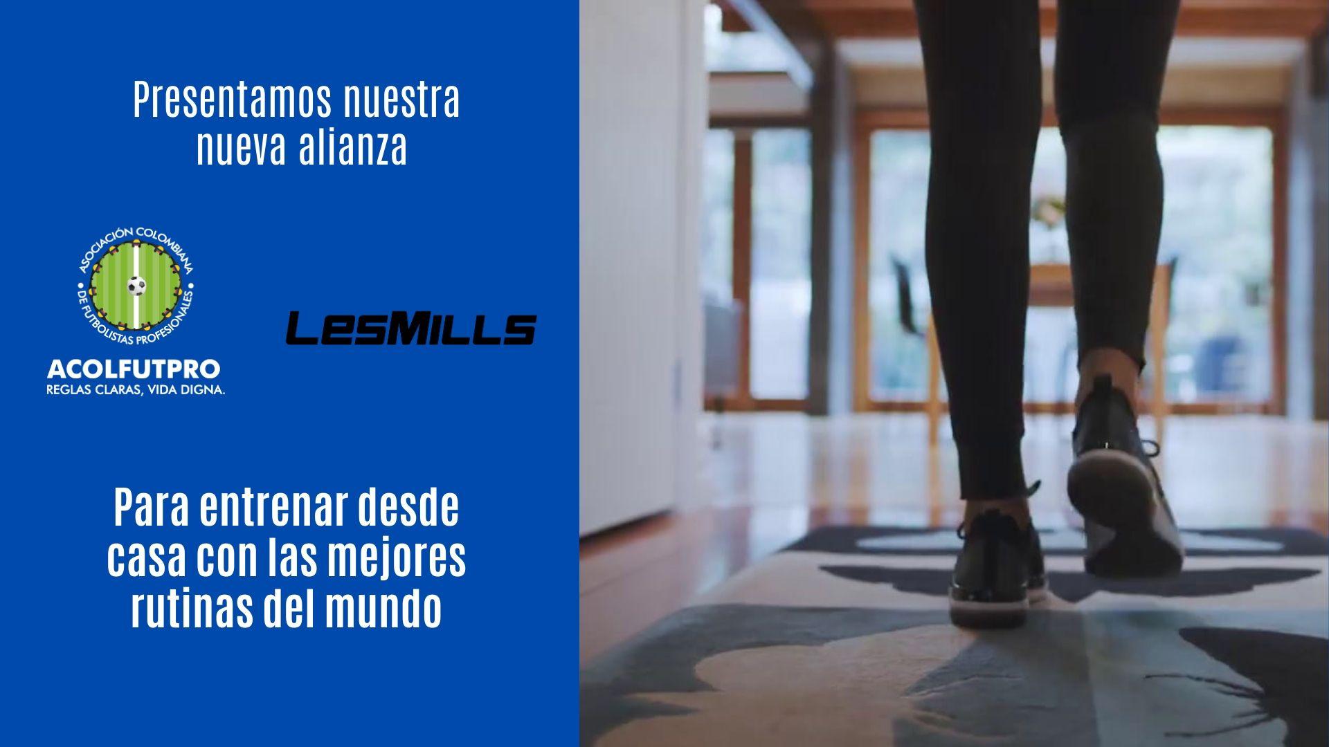 Nueva alianza de ACOLFUTPRO con Les Mills para disfrutar en familia del entrenamiento en casa