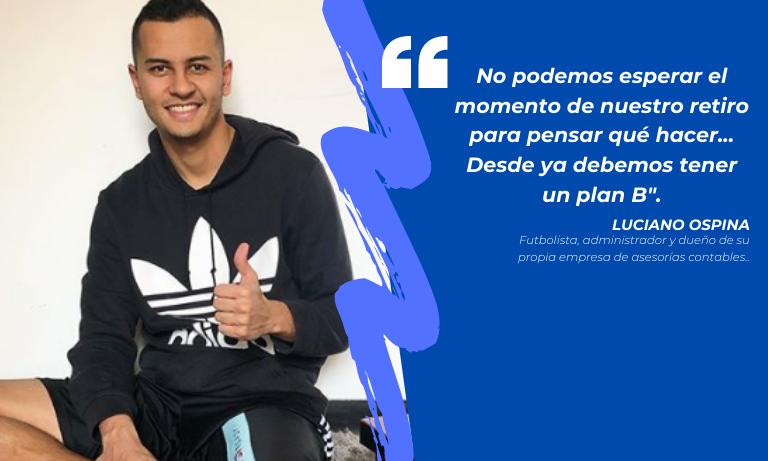 #MotivaciónACOLFUTPRO | Luciano Ospina, apasionado por el fútbol y por el emprendimiento