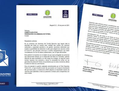 Solicitud de ACOLFUTPRO al Comité Ejecutivo de la FCF