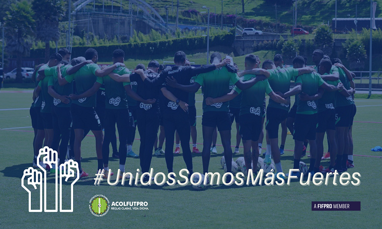 Comunicado de los futbolistas de Nacional apoyados por ACOLFUTPRO
