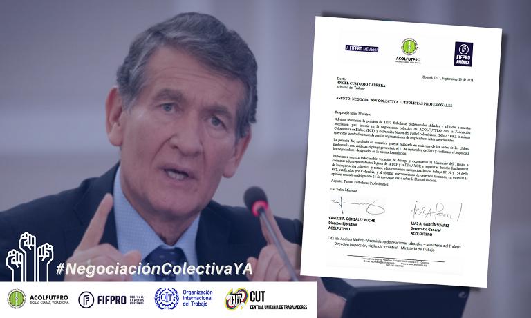1.031 futbolistas piden a MinTrabajo que se garantice su derecho a la negociación colectiva