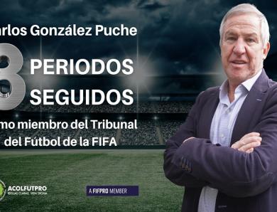 Carlos González Puche seguirá en el Tribunal del Fútbol de la FIFA por tercer periodo consecutivo
