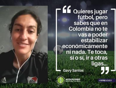 Gavy Santos reclama una base y un proyecto sólido para las futbolistas en Colombia