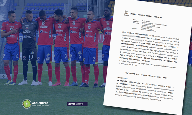 Seguimos trabajando por la defensa de los derechos de los futbolistas del Pasto